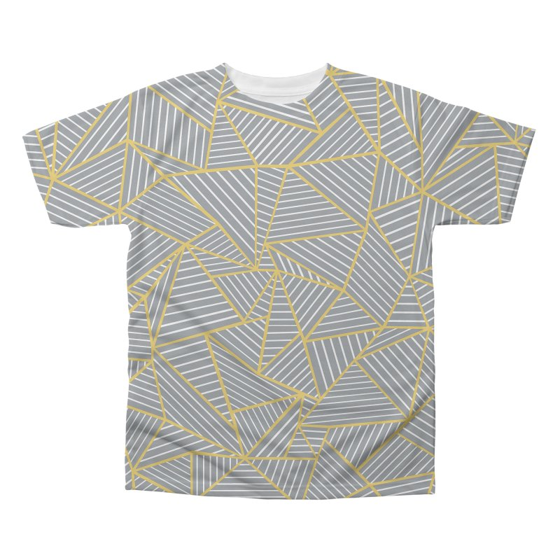 Ab Outline Grey and Gold Men's Regular All Over Print by Project M's Artist Shop