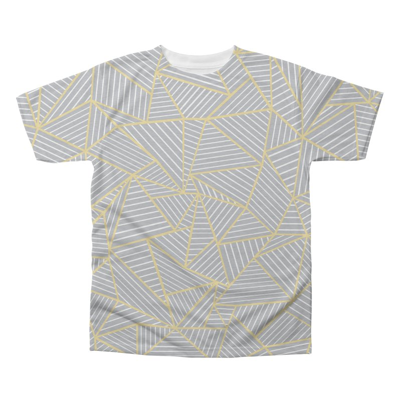 Ab Outline Grey and Gold Men's Triblend All Over Print by Project M's Artist Shop