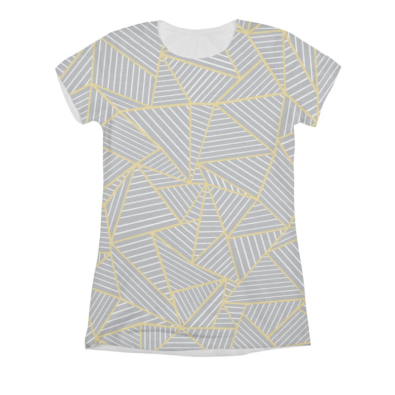 Ab Outline Grey and Gold Women's Triblend All Over Print by Project M's Artist Shop