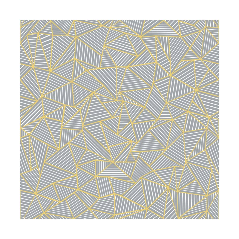 Ab Outline Grey and Gold by Project M's Artist Shop