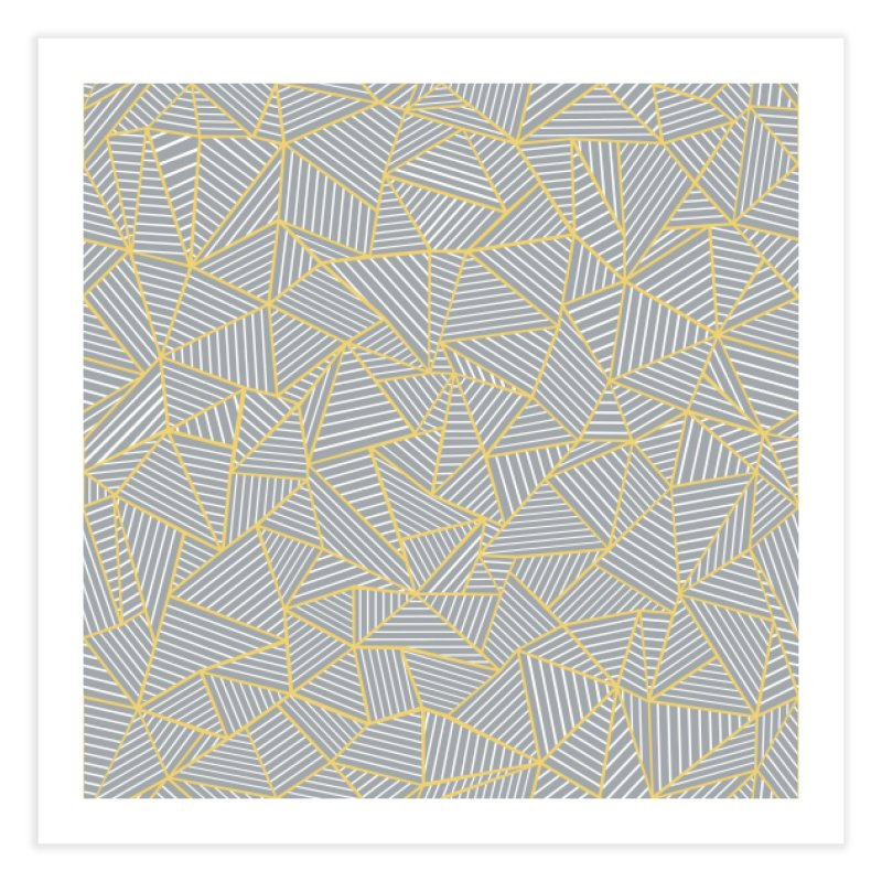 Ab Outline Grey and Gold in Fine Art Print by Project M's Artist Shop