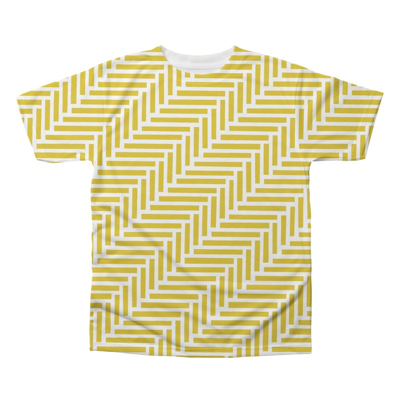 Herringbone Yellow Men's Regular All Over Print by Project M's Artist Shop