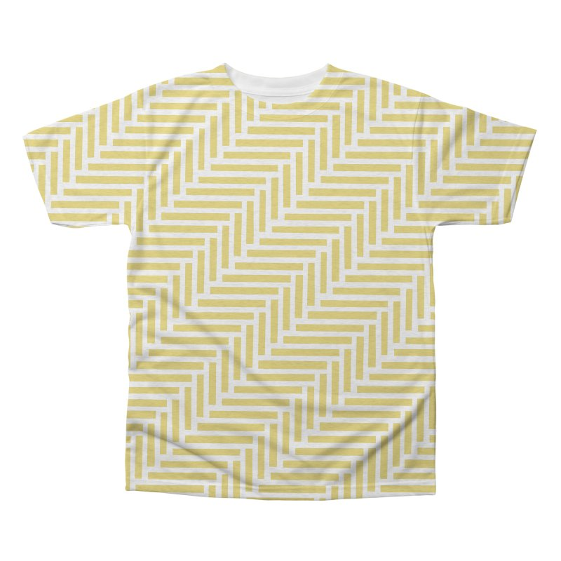 Herringbone Yellow Men's Triblend All Over Print by Project M's Artist Shop