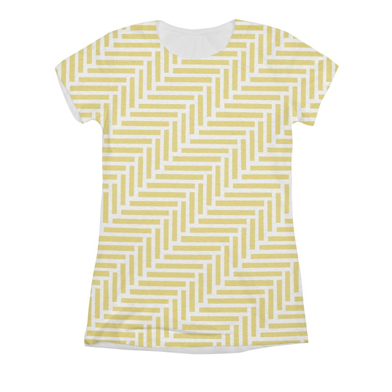 Herringbone Yellow Women's Triblend All Over Print by Project M's Artist Shop