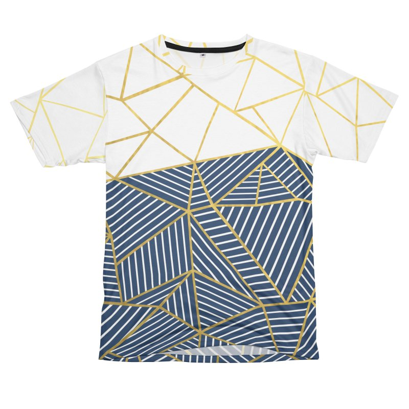 Ab Half and Half Navy Gold Men's Cut & Sew by Emeline