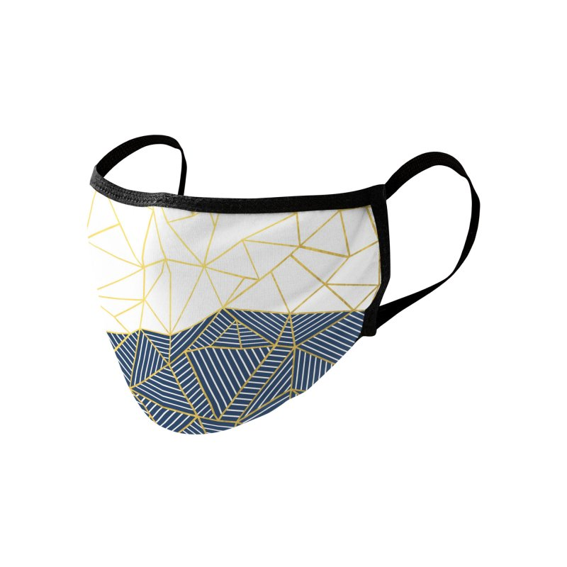 Ab Half and Half Navy Gold Accessories Face Mask by Emeline