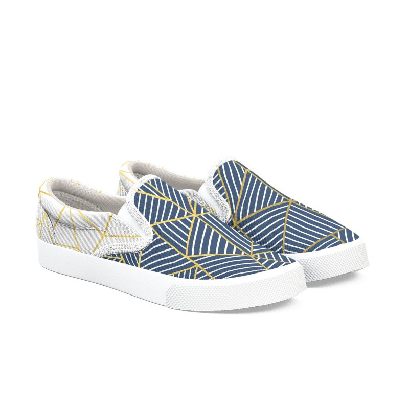 Ab Half and Half Navy Gold Women's Shoes by Emeline