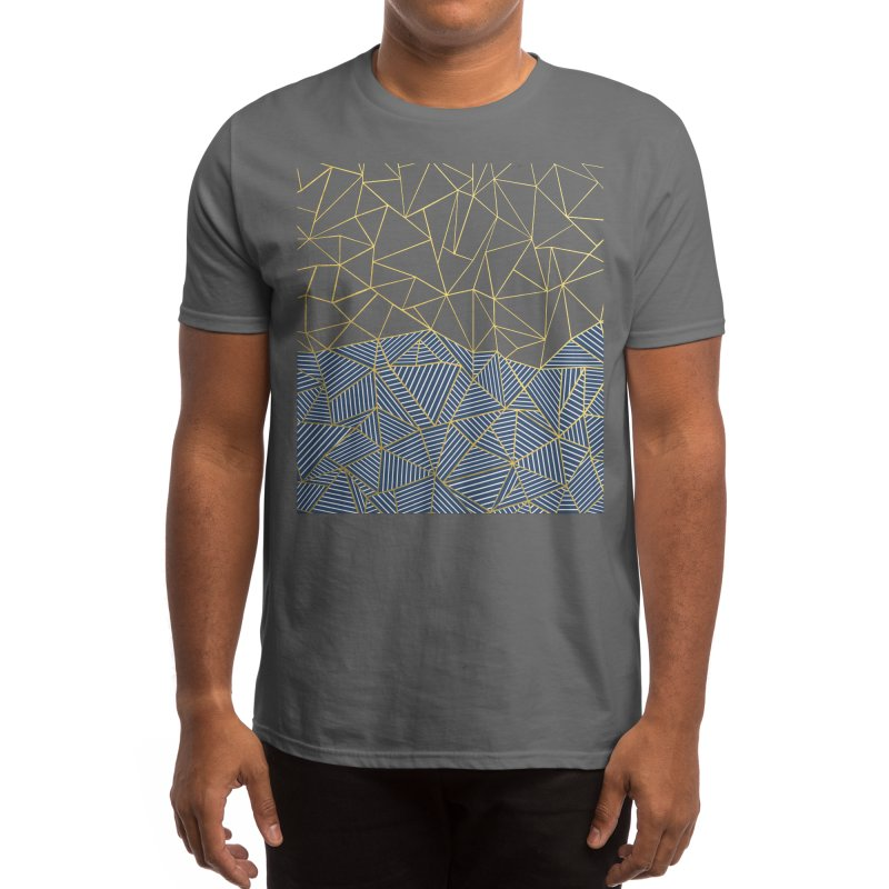 Ab Half and Half Navy Gold Men's T-Shirt by Emeline