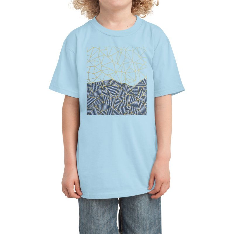 Ab Half and Half Navy Gold Kids T-Shirt by Emeline