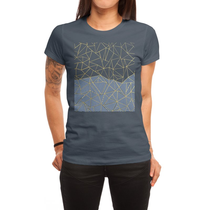 Ab Half and Half Navy Gold Women's T-Shirt by Emeline
