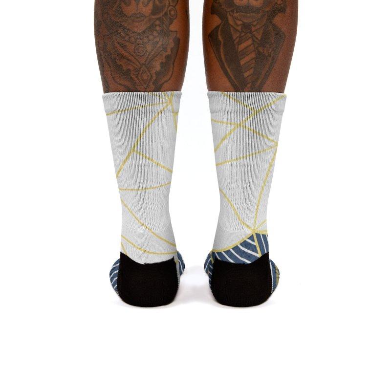 Ab Half and Half Navy Gold Women's Socks by Emeline