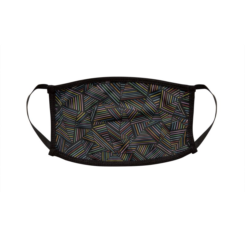 Ab Linear Rainbow Black Accessories Face Mask by Emeline
