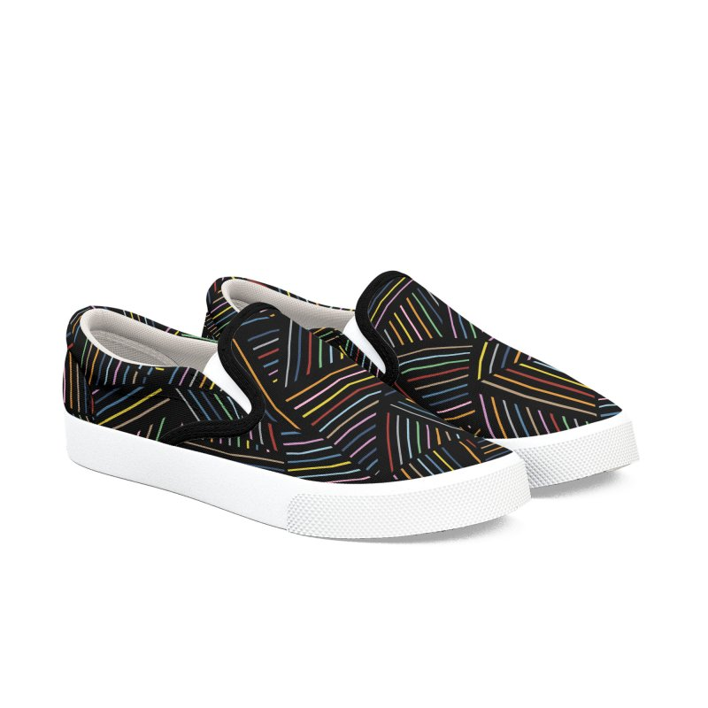 Ab Linear Rainbow Black Women's Shoes by Emeline