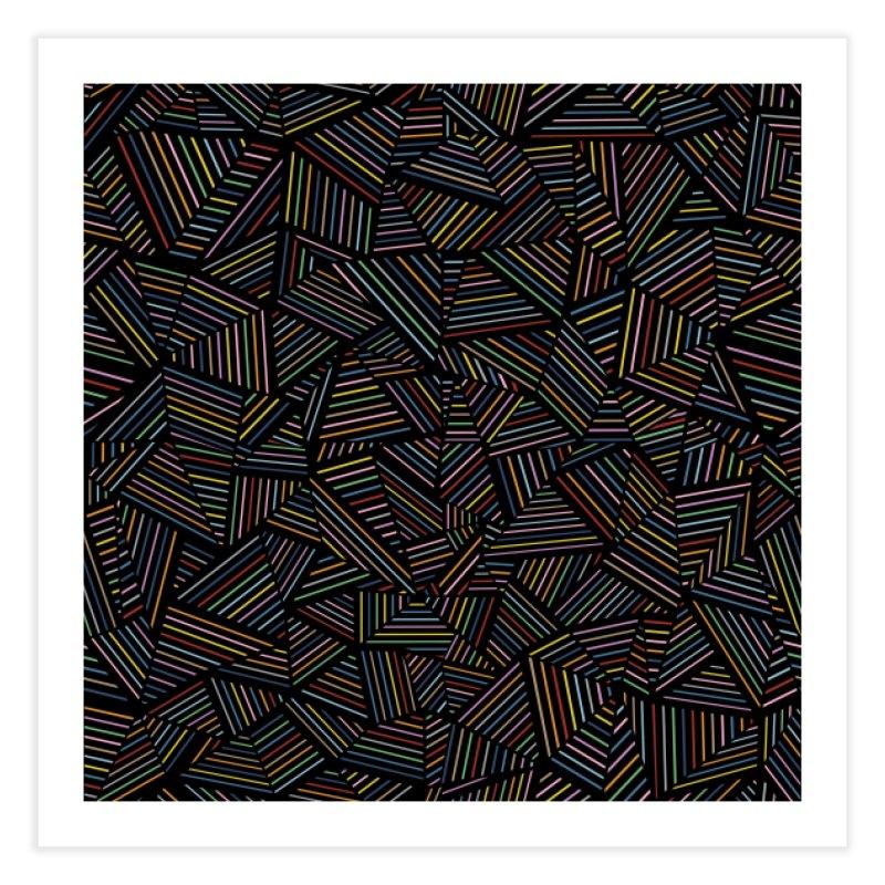 Ab Linear Rainbow Black in Fine Art Print by Project M's Artist Shop