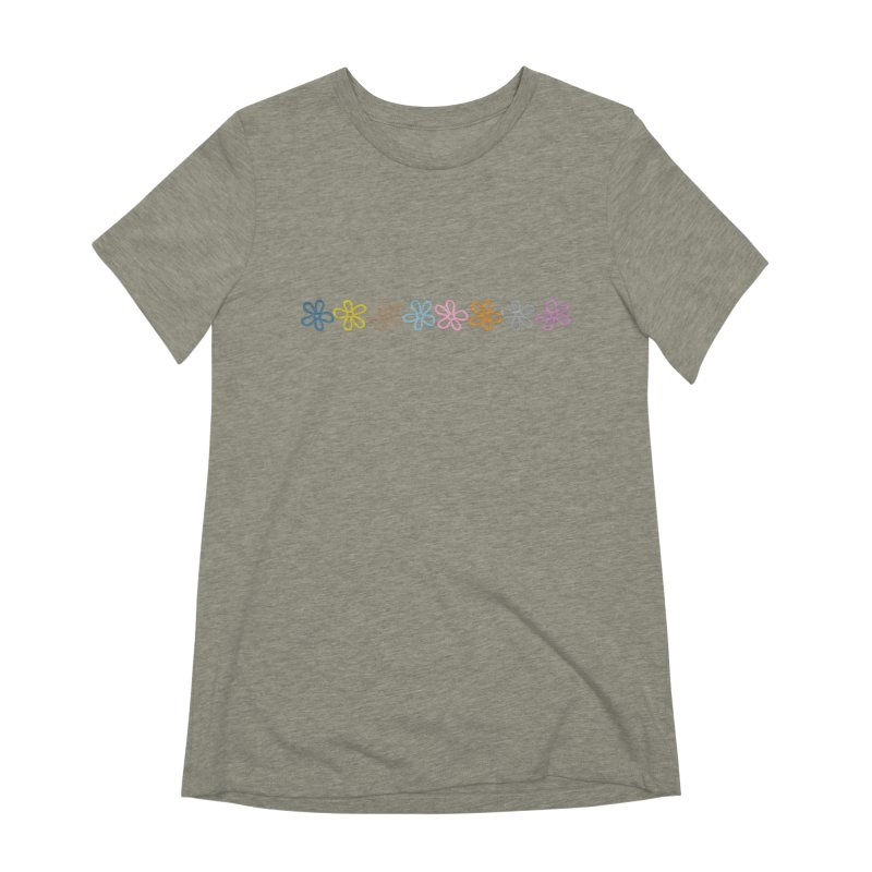 Colorful Daisies Women's Extra Soft T-Shirt by Project M's Artist Shop
