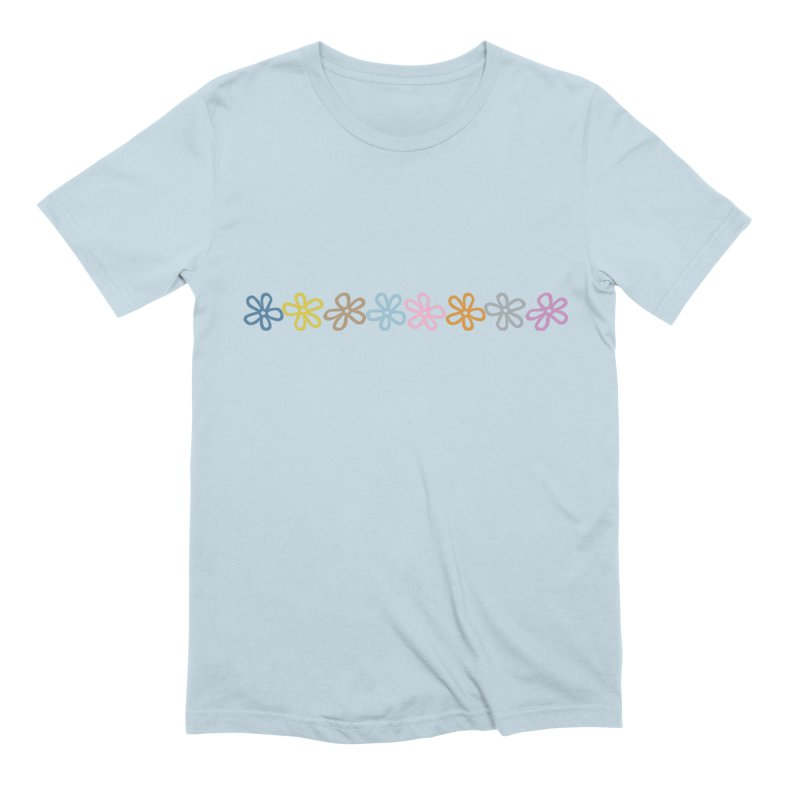 Colorful Daisies Men's Extra Soft T-Shirt by Project M's Artist Shop
