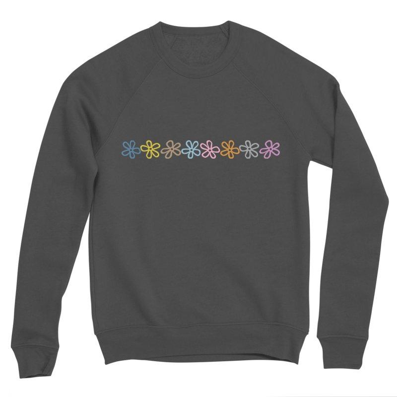 Colorful Daisies Men's Sponge Fleece Sweatshirt by Project M's Artist Shop