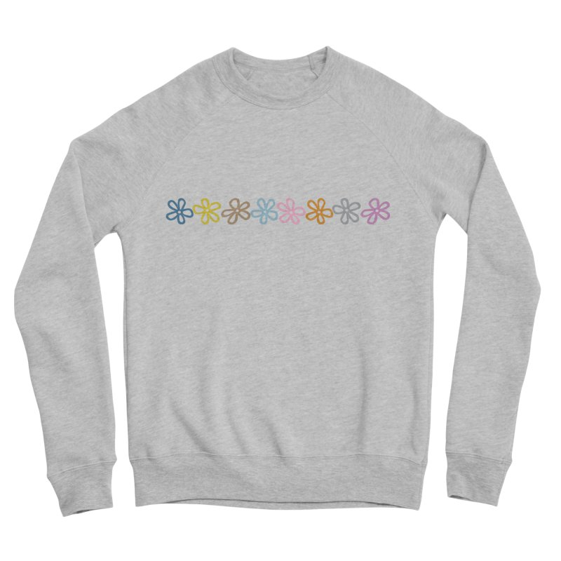 Colorful Daisies Men's Sponge Fleece Sweatshirt by Project M's Artist Shop