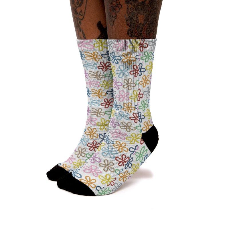 Colorful Daisies Women's Socks by Emeline