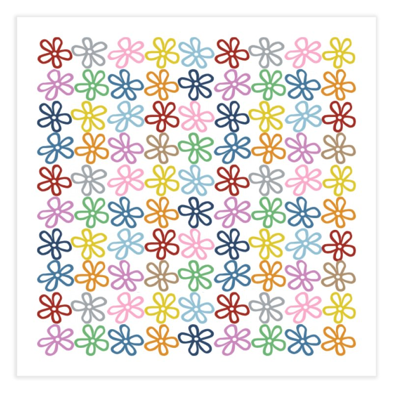 Colorful Daisies Home Bath Mat by Project M's Artist Shop