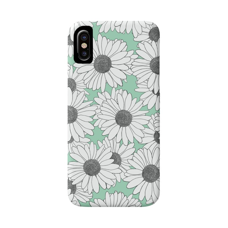 Daisy Mint Blocks Accessories Phone Case by Project M's Artist Shop