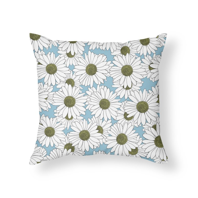 Daisy Blue Blocks in Throw Pillow by Project M's Artist Shop