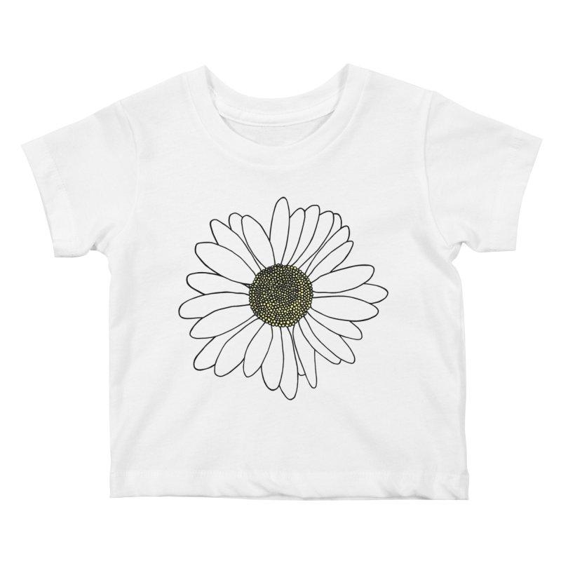 Daisy Blue Blocks Kids Baby T-Shirt by Project M's Artist Shop