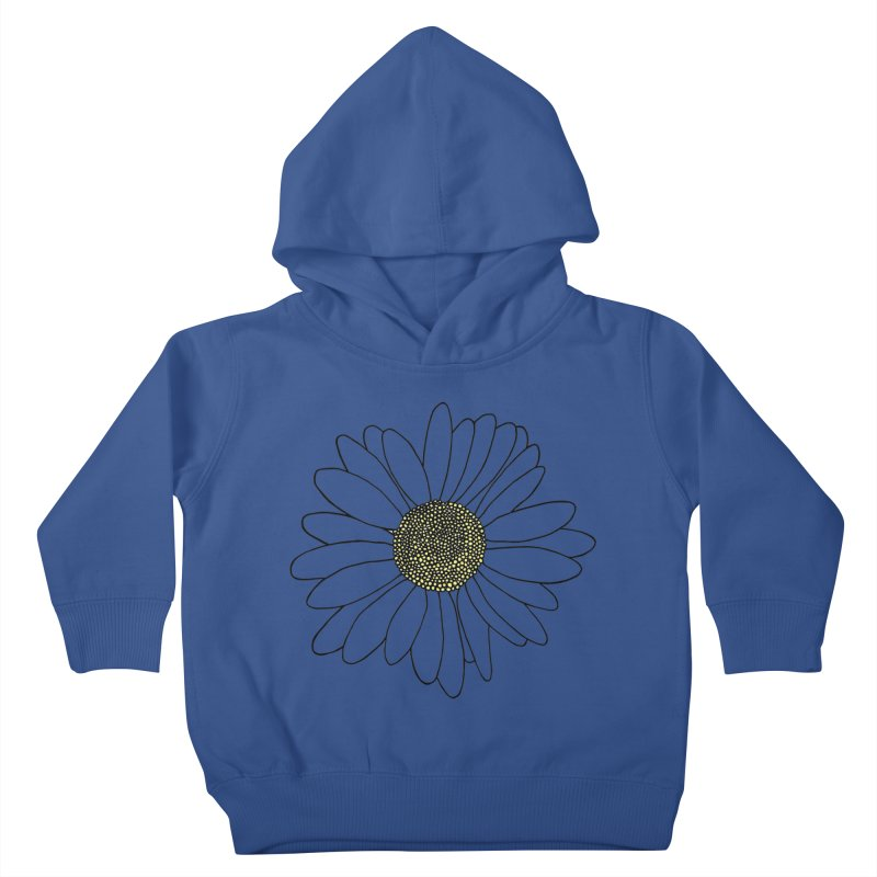 Daisy Blue Blocks Kids Toddler Pullover Hoody by Project M's Artist Shop