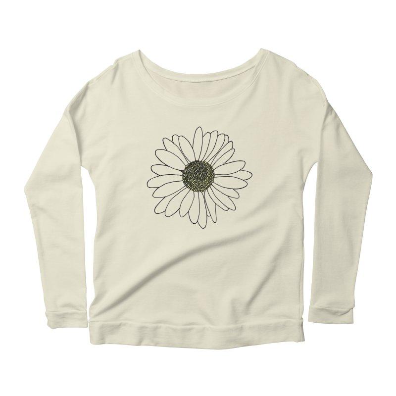 Daisy Blue Blocks Women's Scoop Neck Longsleeve T-Shirt by Project M's Artist Shop
