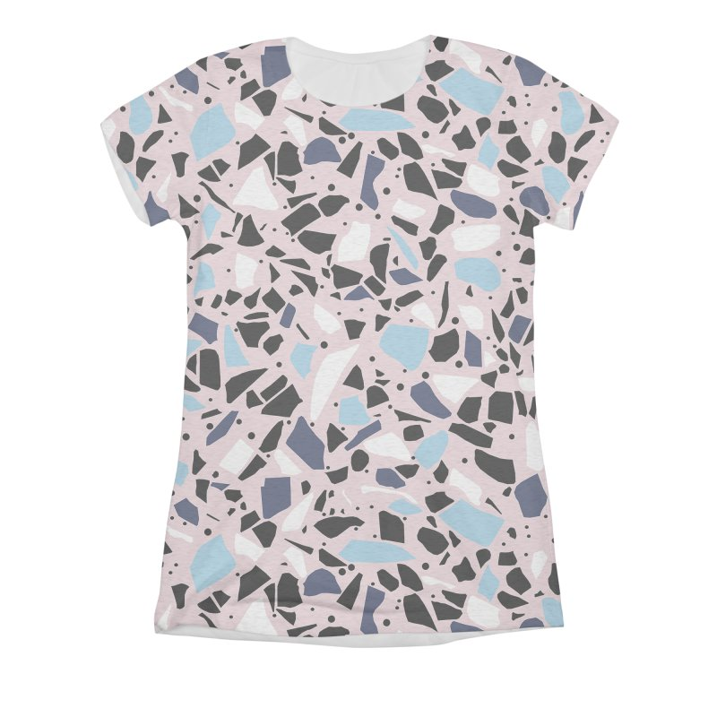 Terrazo Pink Women's Triblend All Over Print by Project M's Artist Shop