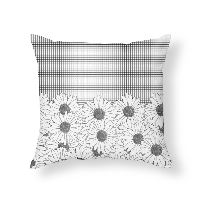 Daisy Grid in Throw Pillow by Project M's Artist Shop