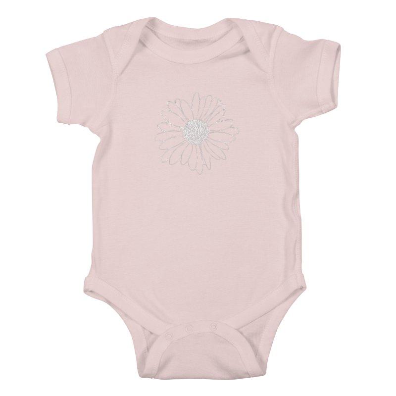 Daisy Grid Kids Baby Bodysuit by Project M's Artist Shop
