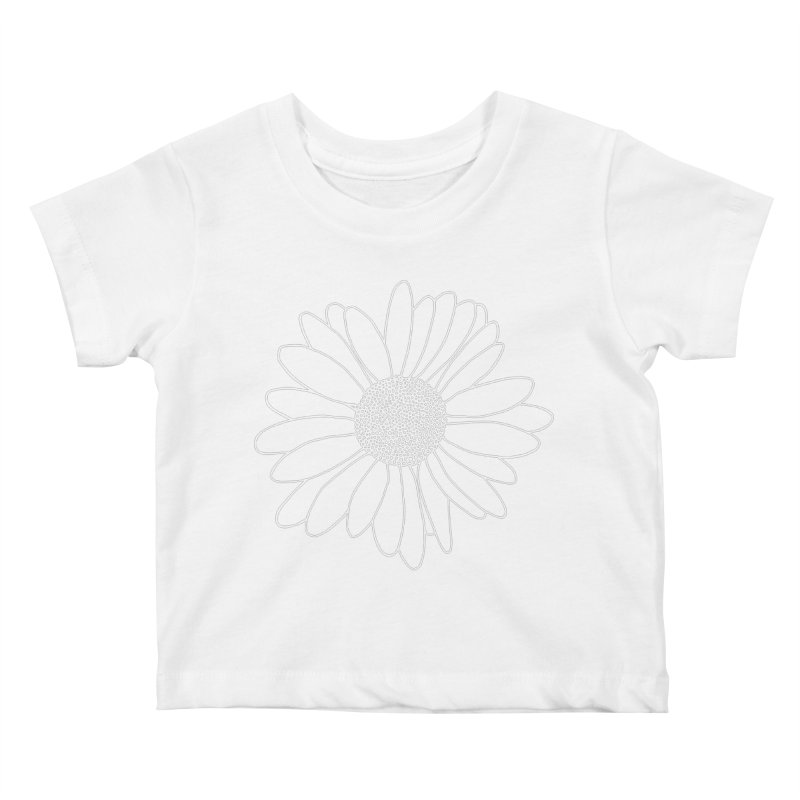 Daisy Grid Kids Baby T-Shirt by Project M's Artist Shop