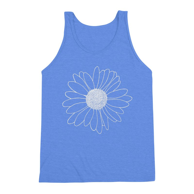 Daisy Grid Men's Triblend Tank by Project M's Artist Shop