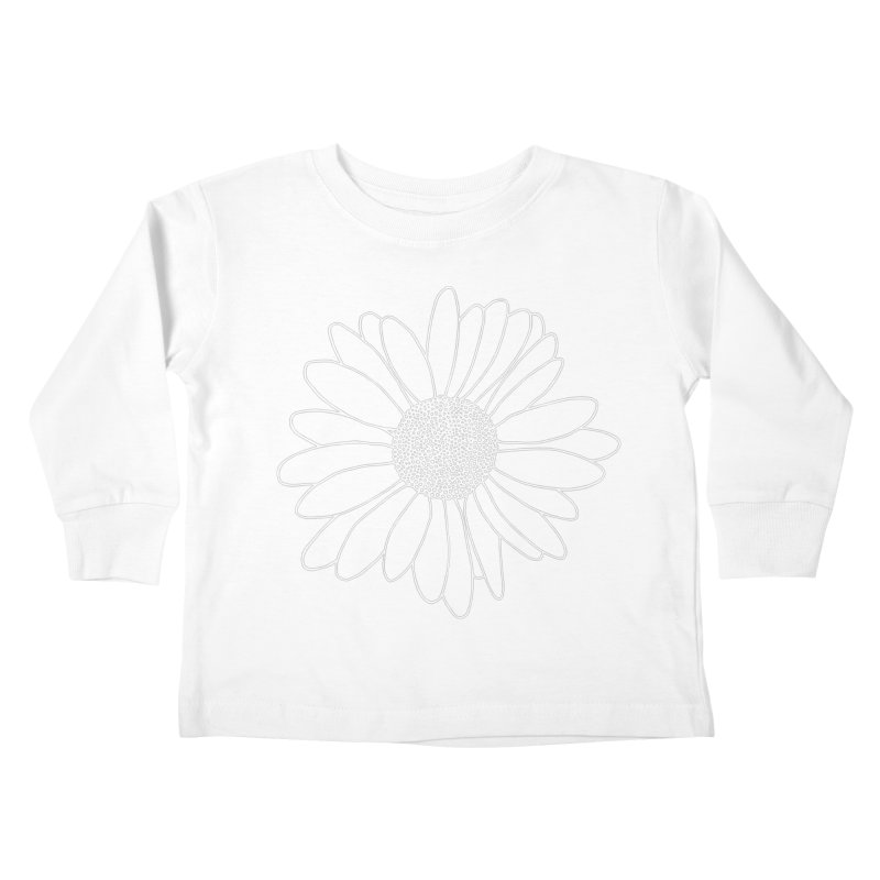 Daisy Grid Kids Toddler Longsleeve T-Shirt by Project M's Artist Shop