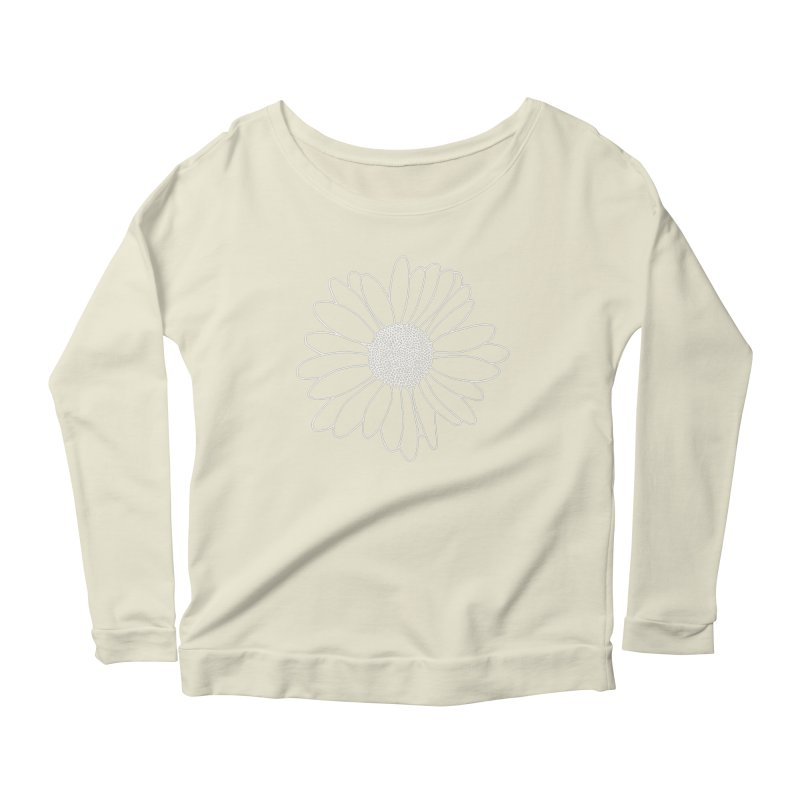 Daisy Grid Women's Scoop Neck Longsleeve T-Shirt by Project M's Artist Shop
