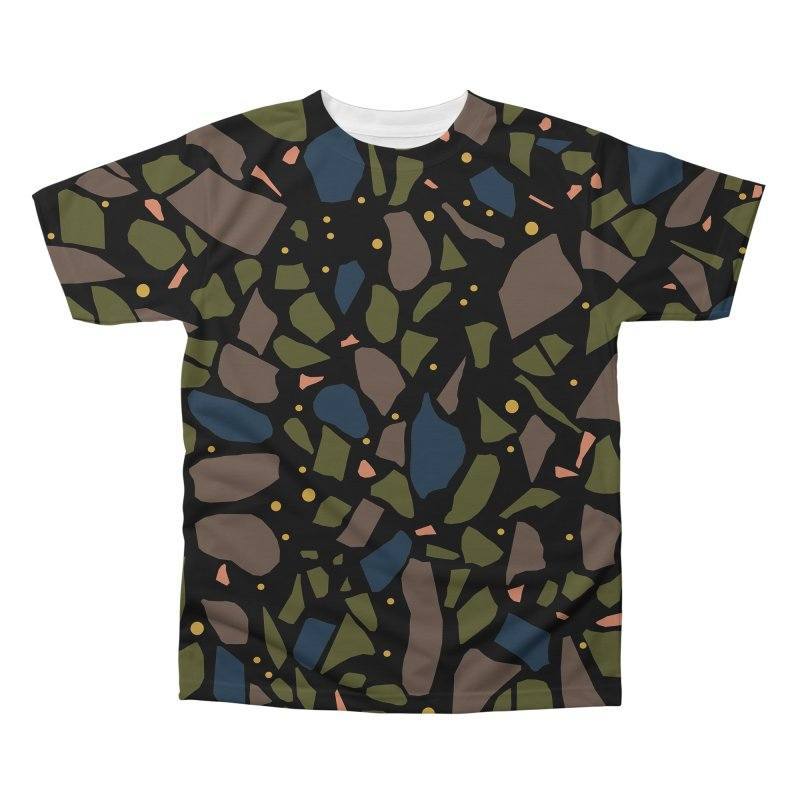 Terrazo Black Men's Regular All Over Print by Project M's Artist Shop