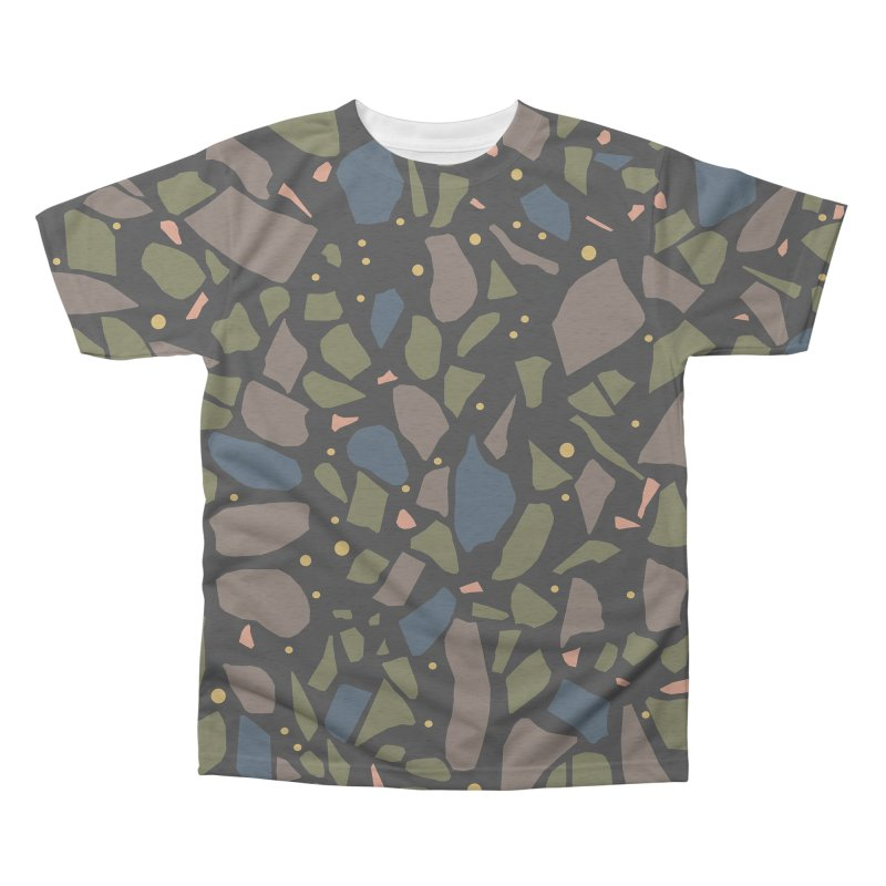 Terrazo Black Men's Triblend All Over Print by Project M's Artist Shop