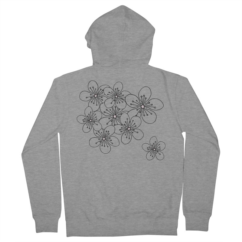 Cherry Blossom Pink and Mint Blocks Women's French Terry Zip-Up Hoody by Project M's Artist Shop