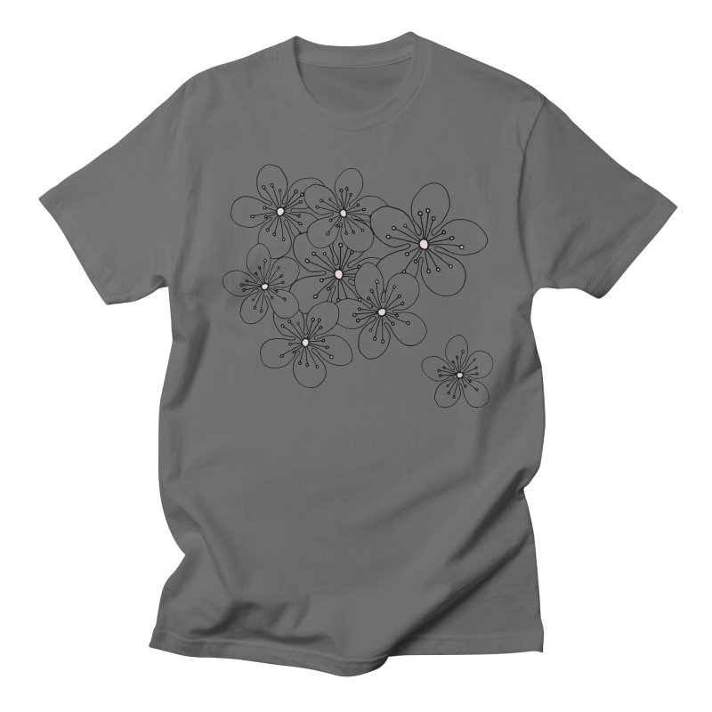 Cherry Blossom Pink and Mint Blocks Men's T-Shirt by Emeline