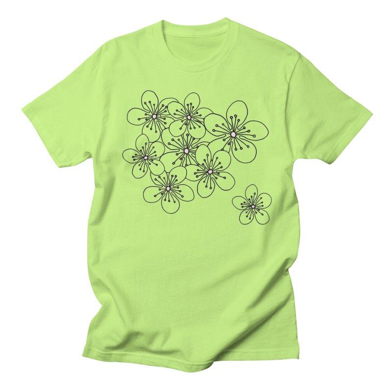 Cherry Blossom Pink and Mint Blocks Women's Regular Unisex T-Shirt by Project M's Artist Shop