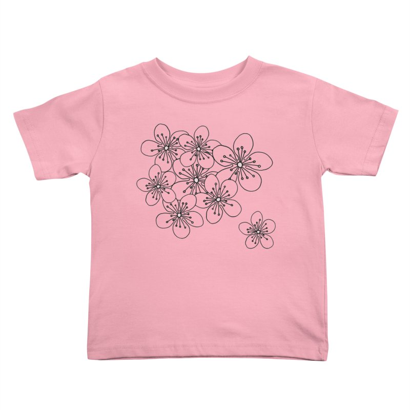 Cherry Blossom Pink and Mint Blocks Kids Toddler T-Shirt by Project M's Artist Shop