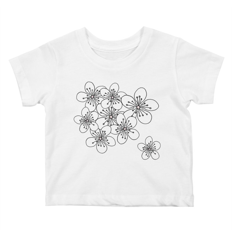 Cherry Blossom Pink and Mint Blocks Kids Baby T-Shirt by Project M's Artist Shop