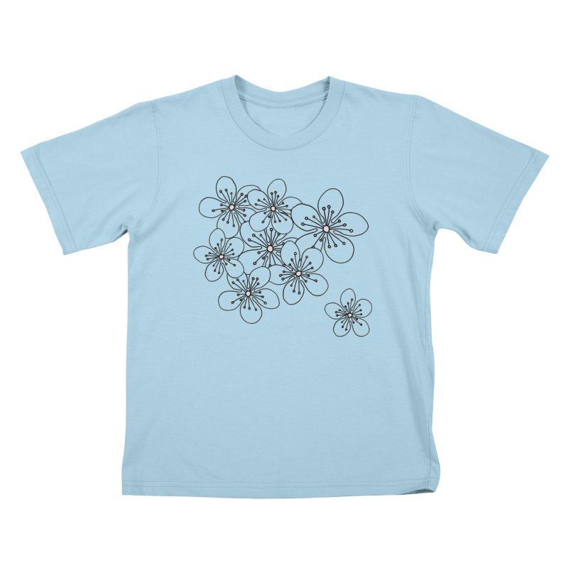 Cherry Blossom Pink and Mint Blocks Kids T-Shirt by Project M's Artist Shop