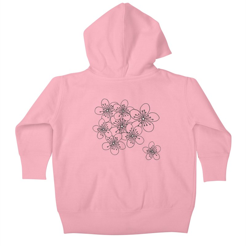 Cherry Blossom Pink and Mint Blocks Kids Baby Zip-Up Hoody by Emeline