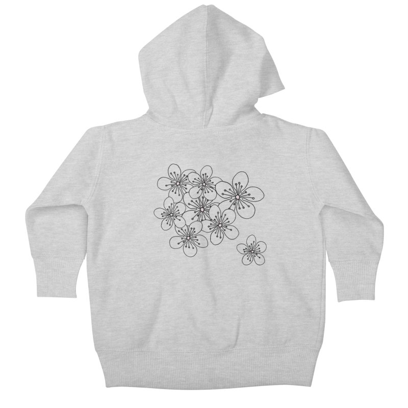 Cherry Blossom Pink and Mint Blocks Kids Baby Zip-Up Hoody by Project M's Artist Shop