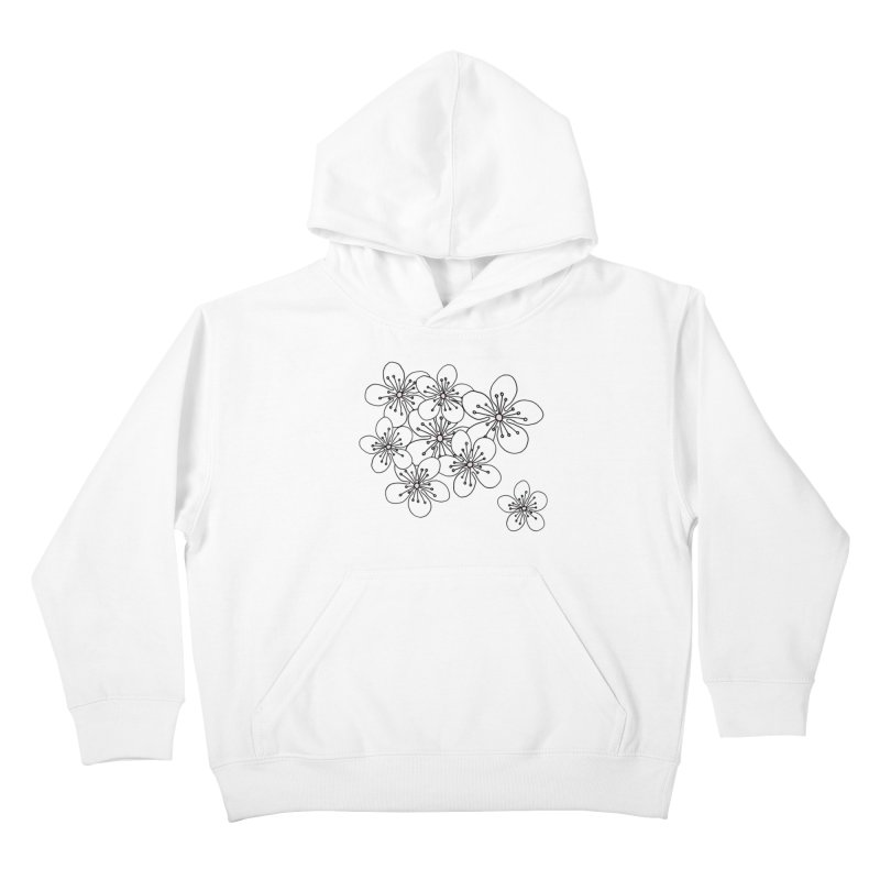 Cherry Blossom Pink and Mint Blocks Kids Pullover Hoody by Project M's Artist Shop
