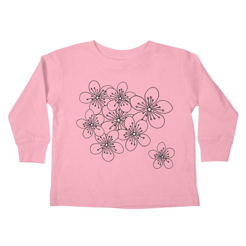 Cherry Blossom Pink and Mint Blocks Kids Toddler Longsleeve T-Shirt by Project M's Artist Shop