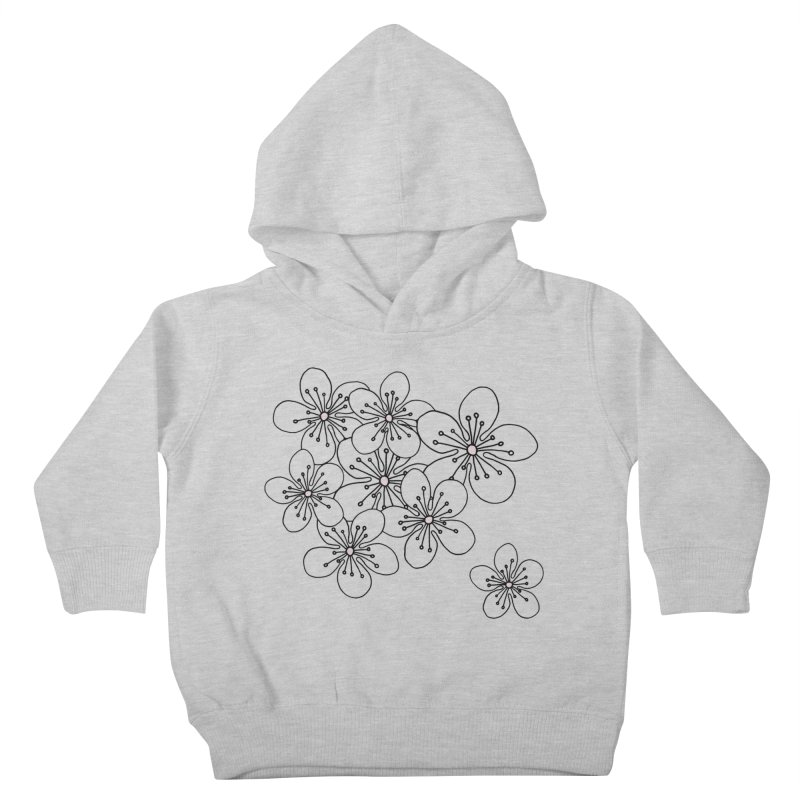 Cherry Blossom Pink and Mint Blocks Kids Toddler Pullover Hoody by Emeline