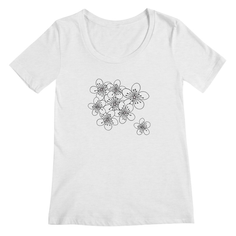 Cherry Blossom Pink and Mint Blocks Women's Regular Scoop Neck by Project M's Artist Shop